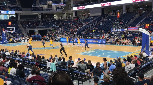 The Chicago Sky took on the Minnesota Lynx at the Wintrust